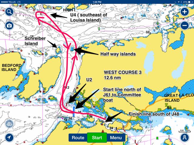 West course 3 chart
